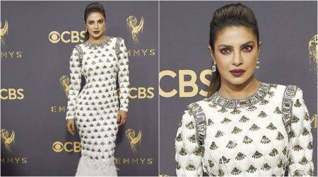 Emmys 2017: Priyanka Chopra looks fierce in a stunning white Balmain feathered gown (see pics)