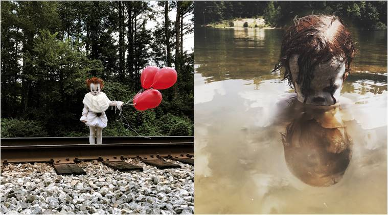 it film it horror film, pennywise, boy dressed as pennywise viral photos, boy dressed as it clown, toddler dressed as it clown, viral photos, viral news, indian express