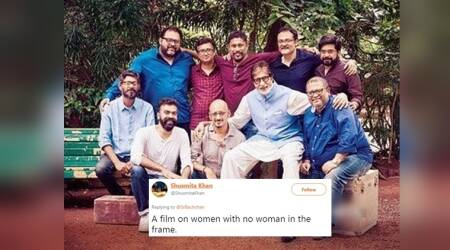 Amitabh Bachchan posts PINK team picture; Twitterati ask, 'Where are the women?'