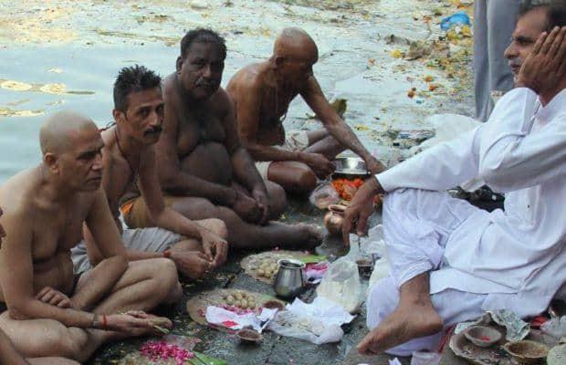 People Perform Tarpan On The Occasion Of Mahalaya InKolkata