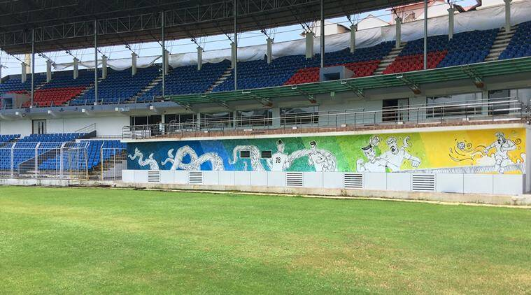 goa stadium, fifa u-17 world cup, u-17 world cup, nehru stadium, goa nehru stadium, football, javier ceppi, sports news, indian express