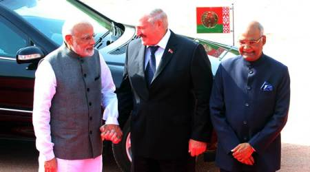 Belarus President Alexander Lukashenko accorded ceremonial welcome at Rashtrapati Bhawan