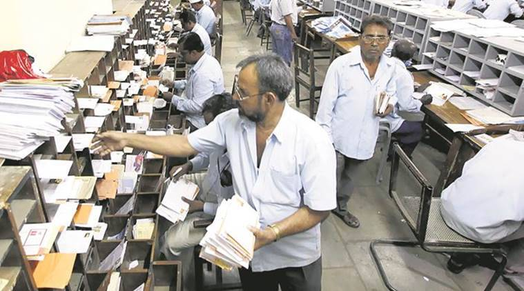 Outsource Postal Agents (OPAs), short staff postal department, postal department outsource work, less pay postal department, indian express news
