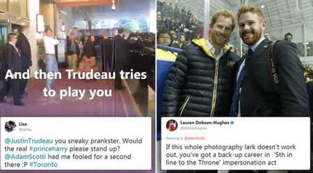 VIDEO: Justin Trudeau hilariously pranks people into believing they met Prince Harry