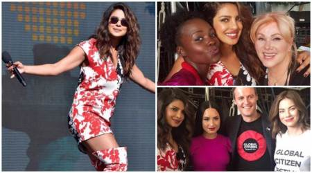 Priyanka Chopra turns host for Global Citizen Festival, also poses with Demi Lovato and Lupita Nyong'o