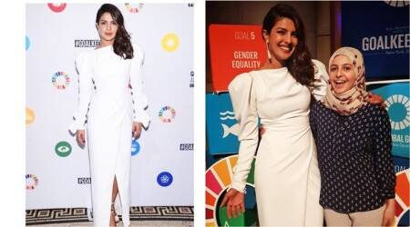 Priyanka Chopra dazzles in an elegant white Christian Siriano gown at the UN General Assembly