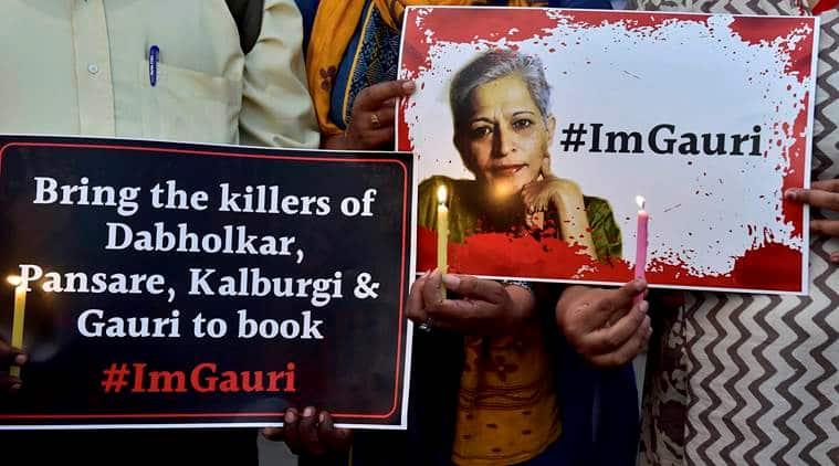 gauri lankesh, gauri lankesh murder, gauri lankesh death, gauri lankesh killing, Narendra Dabholkar, Govind Pansare, indian express news