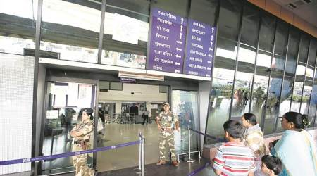 pune airport, pune silent airport, pune airport, flight announcements, pune, Airports Authority of India, latest news, indian express