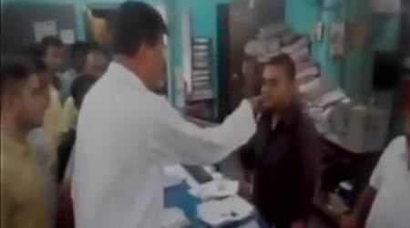 Video: TMC minister Rabindranath Ghosh threatens to slap Cooch Behar bank staff