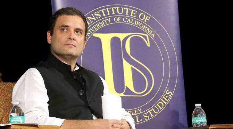 Rahul Gandhi, Congress, Rahul Gandhi speech, Rahul Gandhi Berkeley speech, Rahul Gandhi Sikh riots, Rahul Gandhi demonetisation, BJP, Rahul Gandhi GST, India news, Indian Express