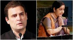 Sushma Swaraj, Rahul Gandhi, Sushma Swaraj unga address, sushma swaraj un speech, rahul gandhi on sushma swaraj, india news