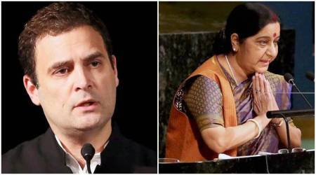 Rahul Gandhi thanks Sushma Swaraj for 'recognising' Congress' 'legacy'