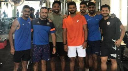 Suresh Raina sweats it out at the gym with India Blue teammates; see pic