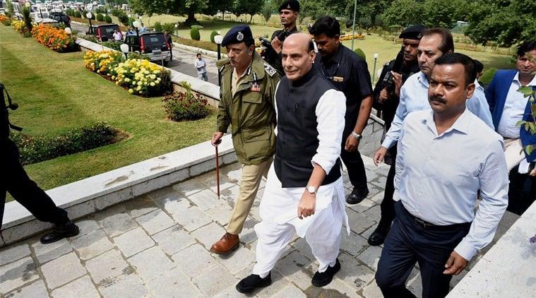 Rajnath Singh, Rajnath Singh J&K visit, J&K special status, Mehbooba Mufti, Farooq Abdullah, J&K government, BJP on J&K special status, Article 35-A