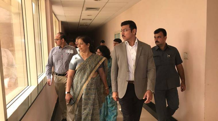 Rajyavardhan Singh Rathore makes surprise inspection at SAI office