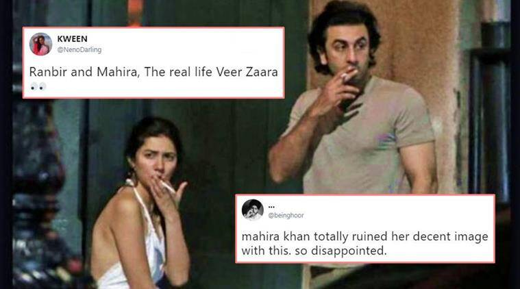 Ranbir Kapoor and Mahira Khan snapped smoking in NYC