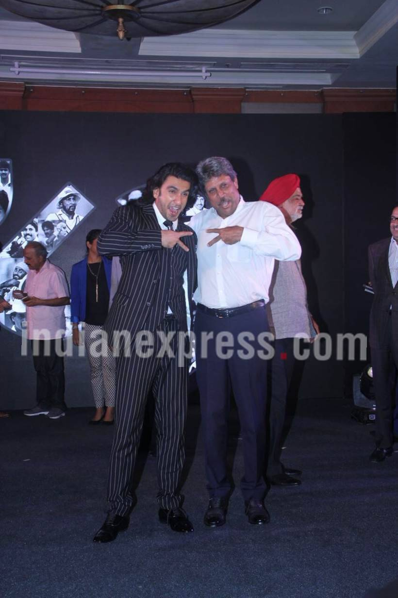 Ranveer Singh, Kapil Dev, Kapil Dev biopic, Kapil Dev photos, Ranveer Singh film, Ranveer Singh photos, 1983 cricket World Cup, 1983 cricket World Cup film, 1983 cricket World Cup team