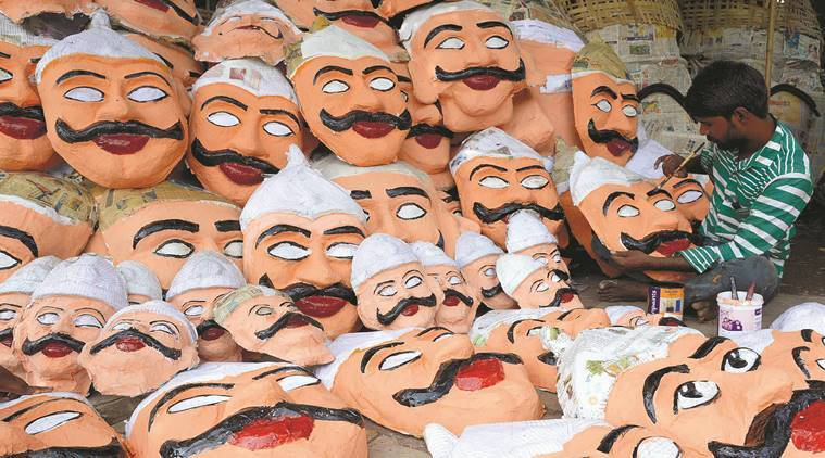 Image result for Pune's oldest Ravan effigy makers, Pardesi Ravanwale, turn 3