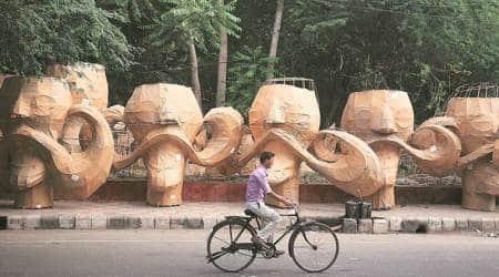 dussehra, Ravan effigies, sdmc, indian express news, delhi news