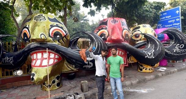 Dussehra, Vijayadashami, Ravana dahan, Ravana Effigies, Dasara, Navratri, Durga puja, Navratri festivals, Navratri days, Navratri night, Navratri Garba night, Navratri dress, Navratri costume, Indian festivals, Indian festivals season, Hindu culture, Hindi religion, Indian express, Indian express news