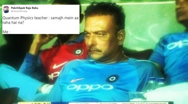 ravi shastri, indvsaus, india vs australia chennai,india vs australia match chennai, ravi shastri india australia match, ravi shastri drunk at india australia match, ravi shastri funny twitter reactions, indian express, indian express news