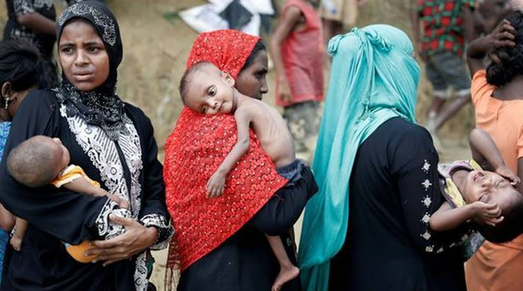 rohingya, rohingya crisis, myanmar, rakhine state, UN, United Nations. Muslim Rohingya Crisis, Bangladesh, Sheikh Hasina, World News, Latest World News, Indian Express, Indian Express News