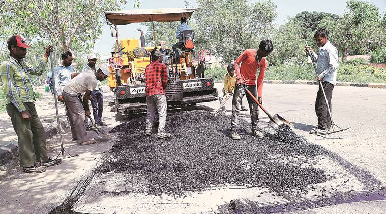 Navratra festival: Mansa Devi road gets pothole makeover ahead of VIPs visit