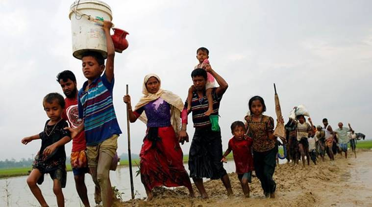 Rohingya, Myanmar, Myanmar Rohingya Violence, Myanmar Rohingya Escape, Rohingya Violence, Rohingya Escape, World News, Latest World News, Indian Express, Indian Express News