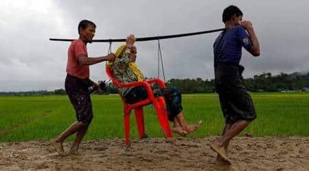 Rohingya muslims, myanmar, rakhine state, bangladesh, rohingya refugee pics, rohingya images, rohingya photos, latest photos from rohingya, rakhine conflict, coz bazar, rohingya muslim photo, myanmar genocide photos, indian express
