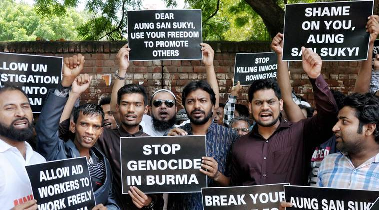 Rohingya protest in Delhi, Rohingya at India-Bnagladesh border, Rohingya in India, Rohingya imigrants in India, India news, National news, Latest news