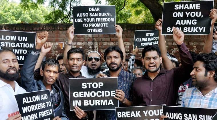 Rohingya protest in Delhi, Rohingya at India-Bnagladesh border, Rohingya in India, Rohingya imigrants in India, India news, National news, Latest news