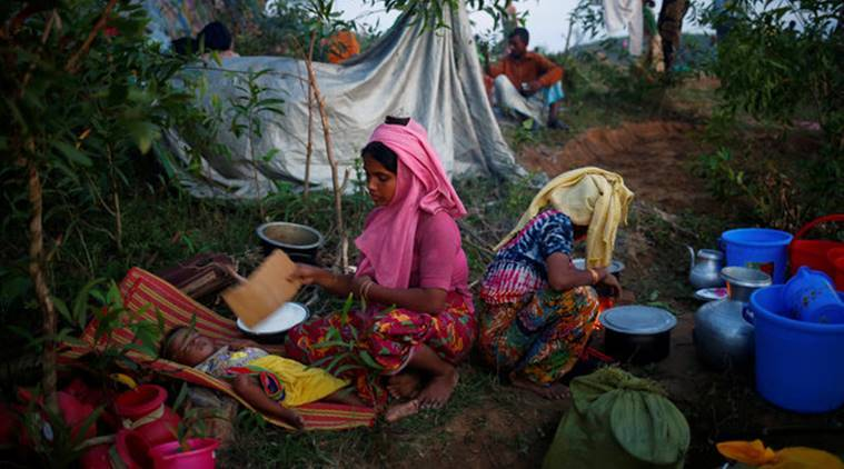 Rohingya refugees, Rohingya muslim community, Rohingya muslim community, rohingya refugess in Bangladesh, Bangladesh shelter homes for Rohingya refugees, world news, indian express news