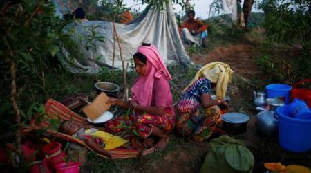 Rohingya refugee, Rohingya muslims, Rohingya camps in Banglasesh, Rohingya muslim death, Bangladesh shelter homes for Rohingya Muslims, indian express news