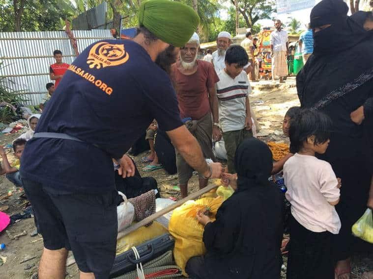 Rohingya Muslims, Rohingya refugees, Rohingya Muslims bangladesh, Rohingya Muslims Myanmar, Khalsa Aid, Rohingya Muslims news, india news, indian express news