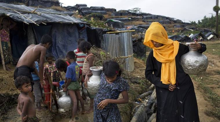 sheikh hasina visit refugee camp, rohingya muslim refugee camp, bangladesh pm visit rohingya muslim refugee camp, rohingya muslim refugees, world news, indian express news