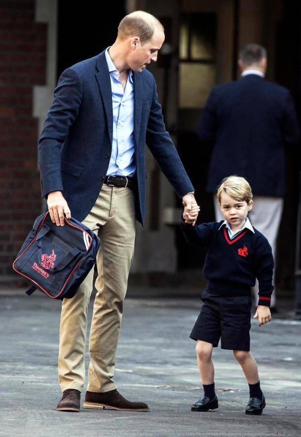 britain prince william, prince george, prince william, kensington palace, prince george first day, prince george school, prince george school photos, indian express, indian express news