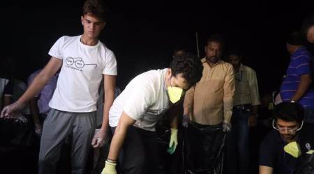 Sachin Tendulkar along with son Arjun, participate in Swachh Bharat week