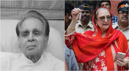Saira Banu shares happy photo of Dilip Kumar as they get back the keys of their Pali Hill property