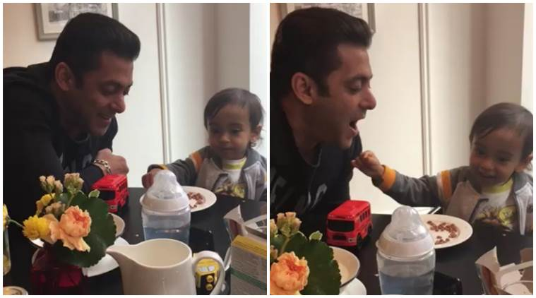 Salman Khan having breakfast with nephew Ahil will make your day!