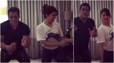 Watch | Salman Khan feels shy while doing 'Tan Tana Tan' with Judwaa 2 girl Jacqueline Fernandez