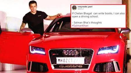salman khan, salman khan hit and run, salman khan driving, salman khan inauguration driving school, salman khan hit and run 2002, salman khan twitter reactions, salman khan jokes, indian express, indian express news
