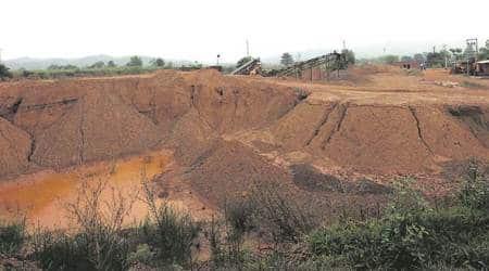 illegal mining, illegal mining punjab, khijrabaad village, mining site, majri block, punjab govt, indian express