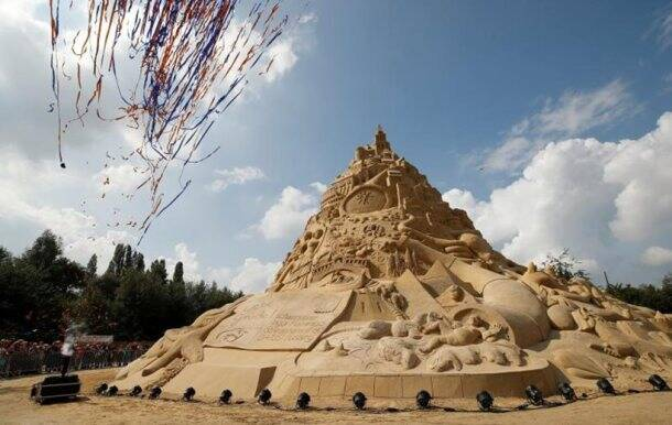 Not ODISHA, but THIS place now has the world's TALLEST SAND CASTLE
