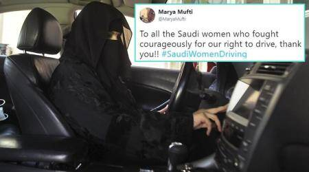 Saudi Arabia lifted its DRIVING BAN on women, and Twitterati took a happy tweet trip
