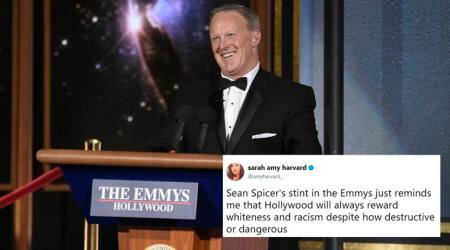 VIDEO: Sean Spicer does a cameo at the Emmys; few laughed, others fumed