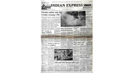 pele in calcutta, pakistan cji sacked 1977, morarji desai in madras, chennai, jammu kashmir on central govt laws, 1977 indian express newspapers, old rare newspapers of indian express
