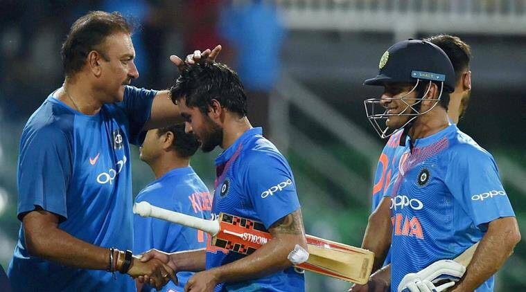 ravi shastri, ms dhoni, mahendra singh dhoni, ravichandran ashwin, ravindra jadeja, team india, cricket, sports news, indian express