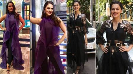 Lara Dutta and Taapsee Pannu show us new ways to rock a sheer outfit