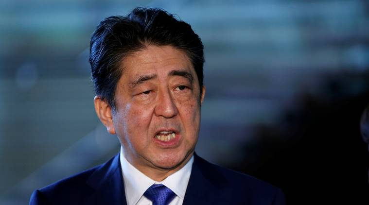 shinzo abe, japan elections, north korea missile, japanese democratic party, japanese pm, tokyo, world news, indian express