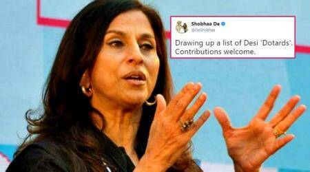 Shobhaa De gets trolled for drawing up a list of 'desi dotards'